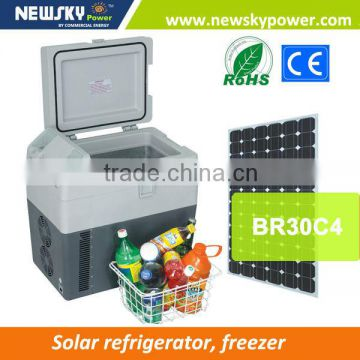 DC 12V/24V AC 110V-240V portable car fridge freezer BR30C4