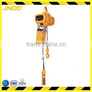 2 ton 240V electric chain hoist with B grade safety factor