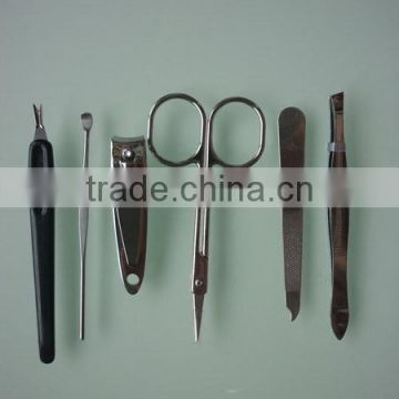 cute cheapest 6pcs Manicure Set In PVC Case for promotional use