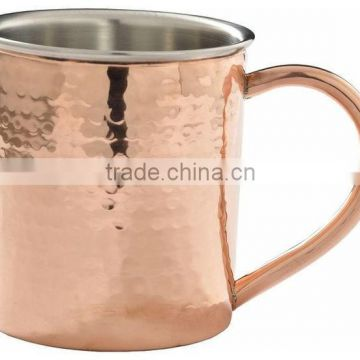 solid stainless & copper mug for moscow mule
