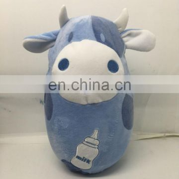 Factory produce Cute plush Roly-poly cow toy Animal design plush tumble toy