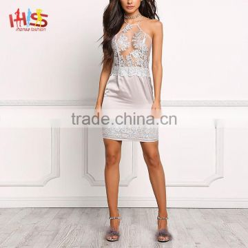 b386edf4849 Silver Tulle Satin Cutwork Embroidered Shift Cocktail Party Dresses for  Girls of 18 years old HSD7201 of Evening Cocktail Dresses from China  Suppliers - ...