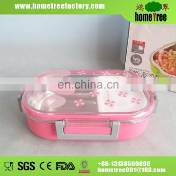 710ml Stainless Steel Plastic Insulated Food Container Thermos Lunch Box