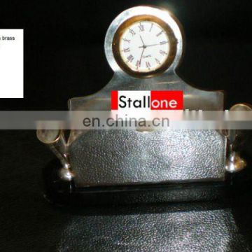 SILVER PLATED TABLE CLOCK