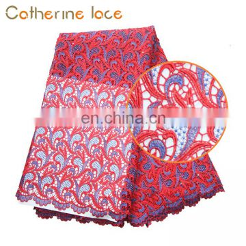 Catherine Cord Lace Embroidery Guipure Lace Fabric For Wedding Dress