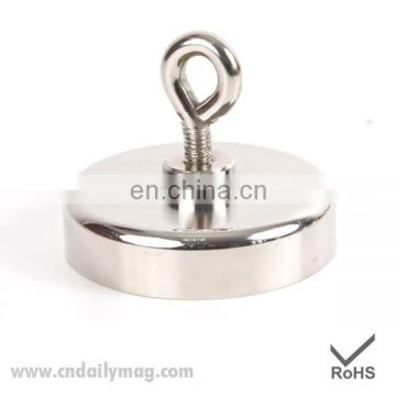 120kg Pulling Mounting D60mm strong powerful neodymium Magnetic Pot with ring fishing gear/deap sea salvage equipments