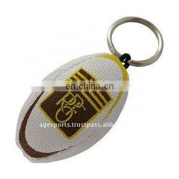 football rugby ball keychain