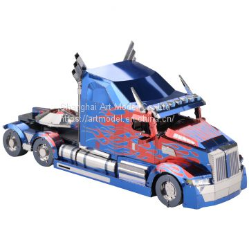 MU New Product Metal 3D Model DIY Transformer Optimus Prime Truck Model Kit Laser Cutting  sestern star