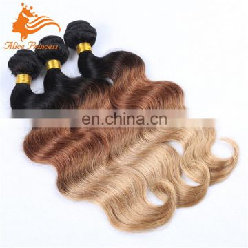 Ombre Body Wave Russian Hair Cheap Weave Hair Online 10-30Inch Remy Human Hair Weft Extensions Double Drawn Weft