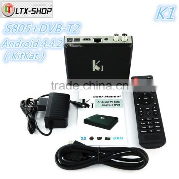Hot-selling Android DVB-T2 Set Top Box AML 805 Android 4 4