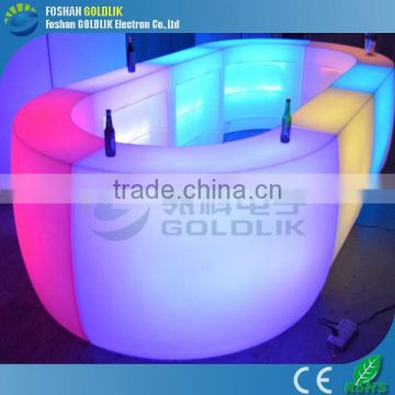 Illuminated LED Light Furniture Bar Counter