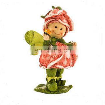 Resin oem flower fairy figure Beauty girl fairy