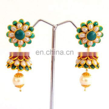 Online wholesale pachi jhumka earring-pachi jewelry -Designer Pachi fusion art jhumka earrings -Woman pachi jhumka earrings 2015