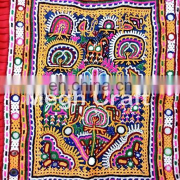 Gujarat Tribal Mirror work Theli Bag - Kutch Rabari Gypsy Work Theli Bag-Indian Traditional HandBag