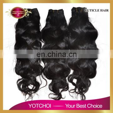 Yotchoi 6A grade virgin hair product peruvian virgin hair peruvian natural body wave peruvian hair weave bundle