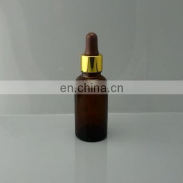 30ml Amber Glass essential oil Bottles with Aluminum dropper