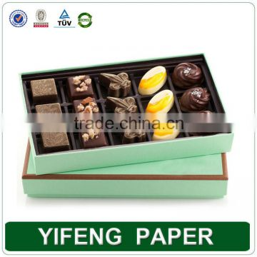 Pvc window chocolate boxes simple design chocolate packaging custom chocolate packaging box in delhi