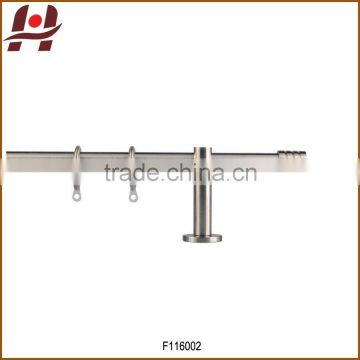 F116002 metal iron aluminium stainless steel brass plated plain twisted extensible telescopic window curtain poles rods pipes