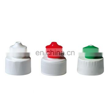 Hot sale 28mm push pull cap plastic bottle cap for detergent bottle, manufacture 28/410 Color Push Pull Plastic Cap