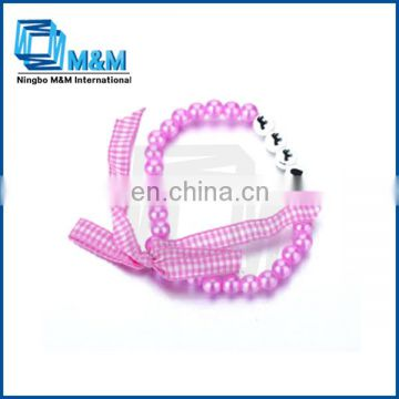 Pink Color Cross Beads For Bracelets For Girls