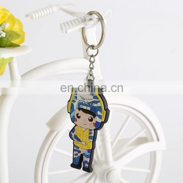 wholesale promotional custom owl soft pvc keychain