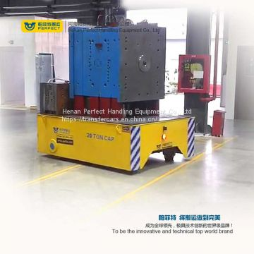 battery operated automatic trackless transfer car to transport large tonnage materials