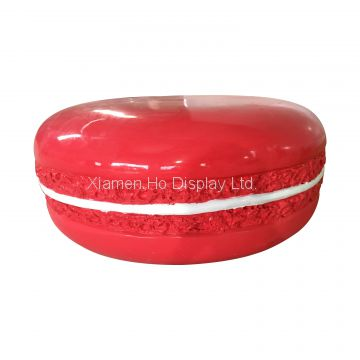 Ho Display Custom Dessert Candy Shop Decorative Fiberglass Giant Macaron Display Props