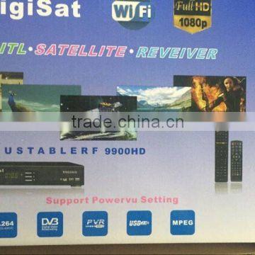 DIGISAT 2020/9900 HD decoder support power VU open encrypt