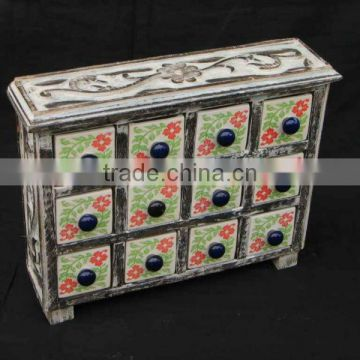 Wooden Drawer Chest,Ceramic Wooden Drawers,Ceramic Cabinets,Small Cabinets,Colored Ceramic Drawers