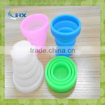FDA approved custom silicone printed folding bowls and cups