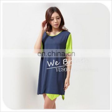 Ladies Straight Dress Bamboo Jersey Mix Match Colors free size