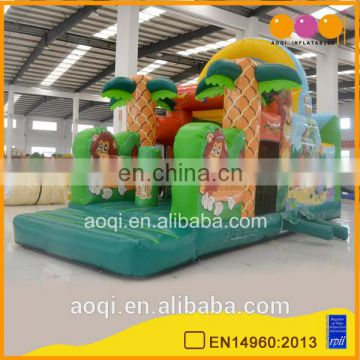 Outdoor toys safari park inflatable obstacle course for kids inflatable floating obstacle for commercial