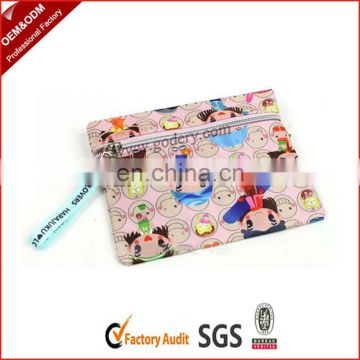Promotional polyester ladies flat money wallet
