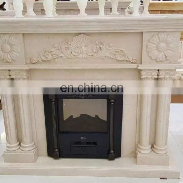 on wall fireplace