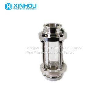 Flanged glass flow tri clamped Sanitary Sight Glass