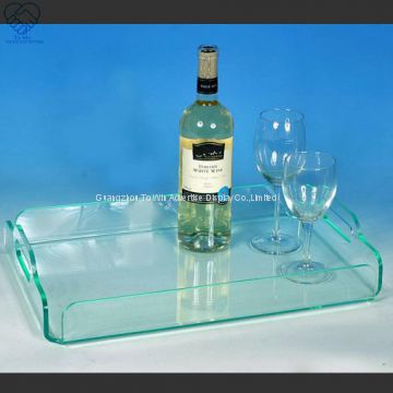 To Win-Wholesale Transparent Rectangle Acrylic Food Serving Tray for Home Hotels Restaurant