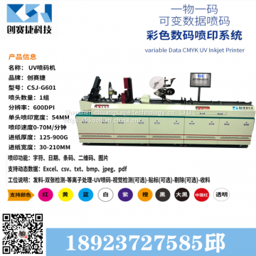 Automatic 2d barcode UV inkjet machine UV inkjet machine equipment barcode inkjet machine