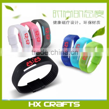 New Arrival Hot Selling Factory Direct Sell Silicone LED Touch Screen Watches Instructions Custom Logo LED Bracelet Watch