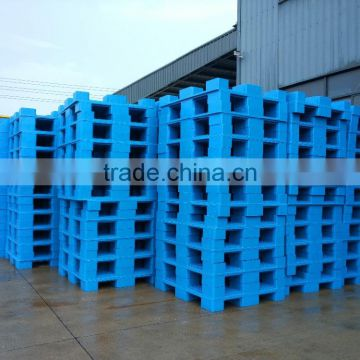 4-way single faced cheap plastic pallet