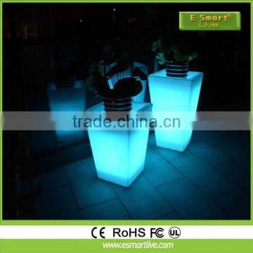 PE Material Garden Decoration LED Flower Pot, Battery operated LED plant pot/modern flower pot,Small LED Flower Pot with batter