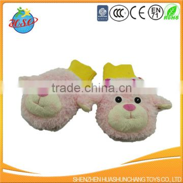 high quality super soft winter plush glove for kids