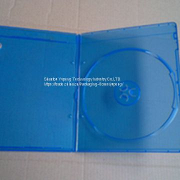 7mm rectange blue ray dvd case blue ray dvd box blue ray dvd cover single good quality with lower price (YP-D863H)B