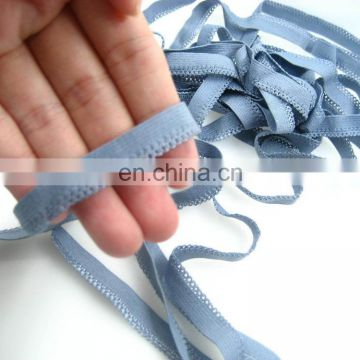 Oeko-Tex100 blue picot elastic for underwear