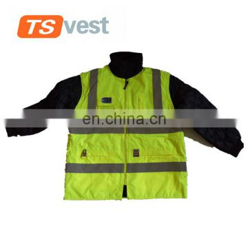 Yellow safety reflective jacket