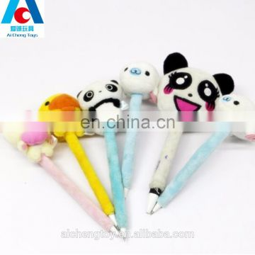 customize cute animal shaped plush pencil hat