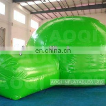 AOQI high quality lovely green sealed tent outdoor inflatable tent giant inflatable for sale make in China