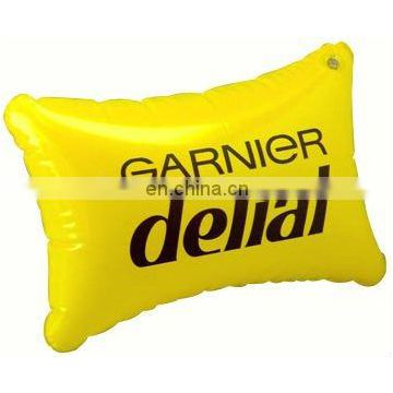 Inflatable PVC yellow Pillow
