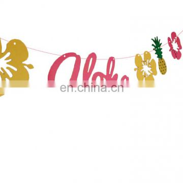 hawaii party decoration banner for summer beach luau party supplies