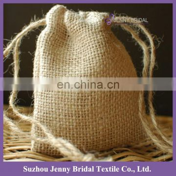 Bag028 custom elegant burlap fabric gift bags christmas for wedding