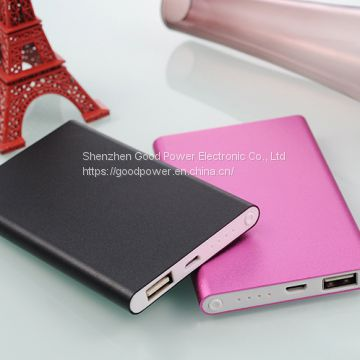 4000mAh super slim aluminium power bank